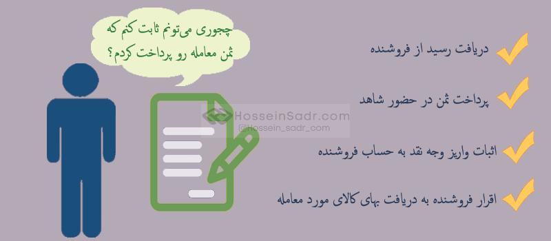 راههای اثبات پرداخت ثمن معامله